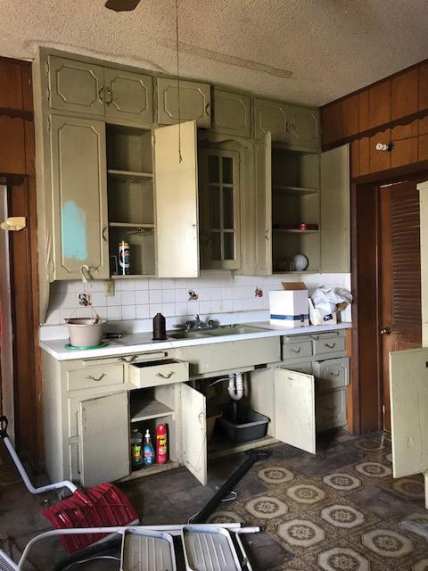 Kitchen cupboards - before