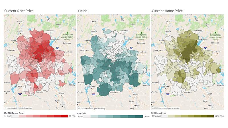 Atlanta-3map-Rent-Yield-HPI