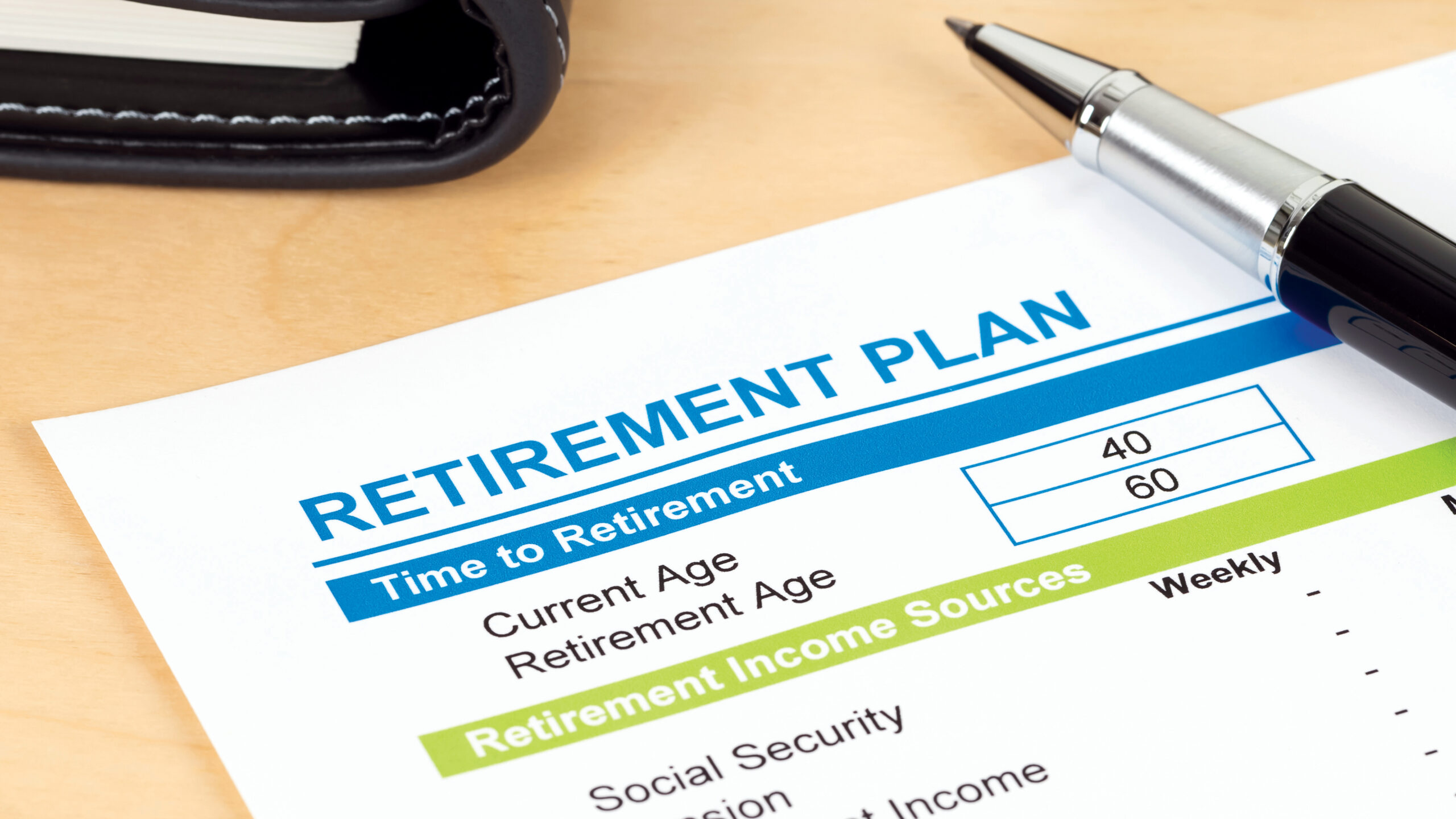 Retirement plan with calculator