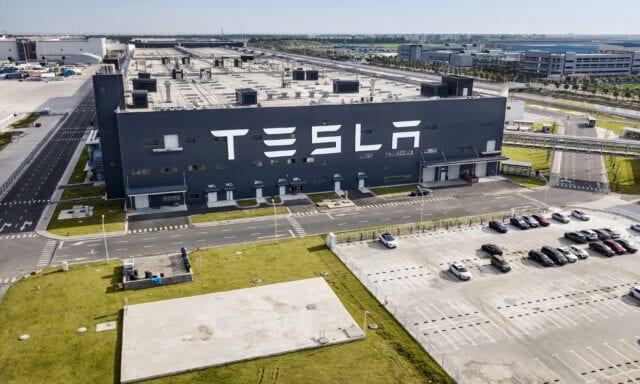 Tesla car factory